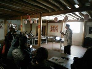 106年2月8日在山隴社區發展協會聽花弟校長說擺暝及9日在板里國小